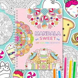 สมุดระบายสี Mandala Sweet Art Book (ใหญ่)