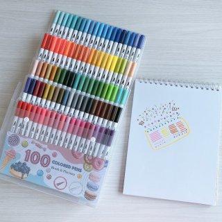 ปากกาสีเมจิก 2 หัว (Brush & Fineliner)