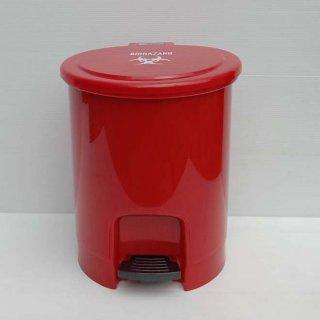 ถังขยะ แบบเหยียบ สีแดง ถังขยะในห้องน้ำ 6 ลิตร