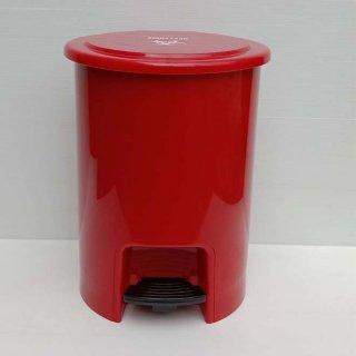 ถังขยะ แบบเหยียบ สีแดง ถังขยะในห้องน้ำ 12 ลิตร