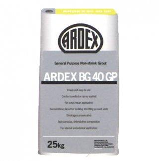 ซีเมนต์เกร้าท์ไม่หดตัว สำหรับงานอเนกประสงค์ รับกำลังอัดสูง ARDEX BG 40 GP