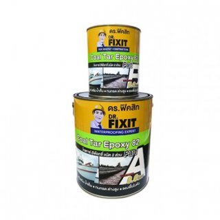 โคลทาร์ อีพ็อกซี่ ชนิด 2 ส่วน ไม่แตกร้าว Dr.Fixit Coal Tar Epoxy 82