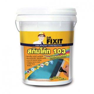 ครีมฉาบบางพร้อมใช้แบบมีสี Dr.Fixit Skimkote 103 Color Plus