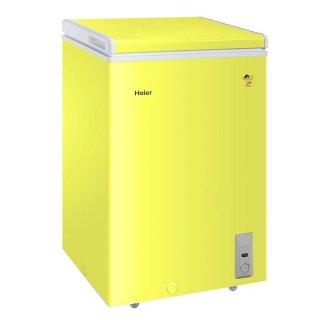 ตู้แช่แข็งHaier 3.5 Q สีเหลือง