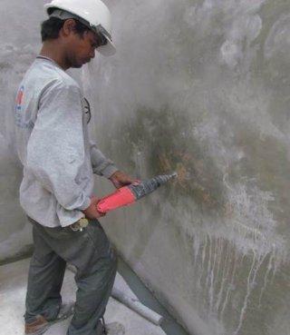 งานซ่อมยิงหยุดน้ำรั่ว