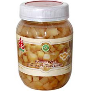 Pickled ginger with soy-beans