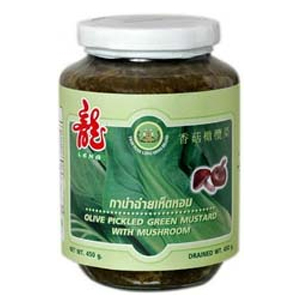 Olive Pickled Green Mustard with Mushroom